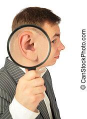 magnifier, oreille