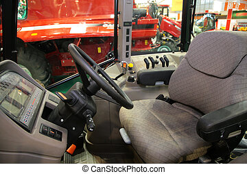 Workplace of the combine driver