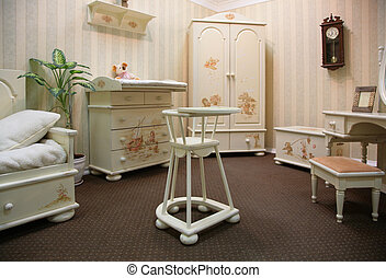 Old-fashioned room - Old-fashioned children room