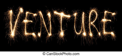 Word venture written sparkler