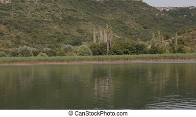 Boat trip down the river Krka in Croatia