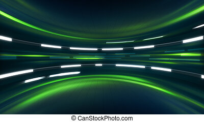 green sci-fi background. computer generated abstract...