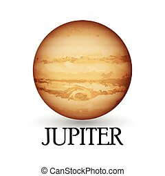 Planet jupiter - Illustration of Planet jupiter