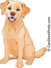 Golden Retriever - Illustration of cute Golden Retriever dog...