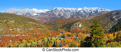 Autumn landscape in Colorado - Autumn landscape near Kebler...