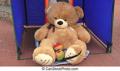 Big Teddy bear Shot in 4K ultra-high definition UHD, so you...