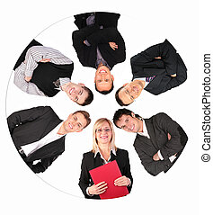 circle business people collage