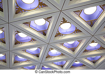 Ceiling with lamps