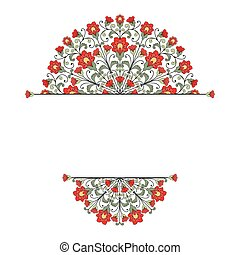 Invitation card with floral ornament. 10 eps format.