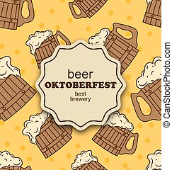 Greeting Card for Oktoberfest Party