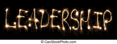 Word leadership written sparkler