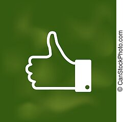 Icon of Thumb Up on School Board - Illustration Icon of...
