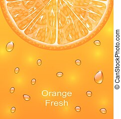 Orange Background with Slice and Drops