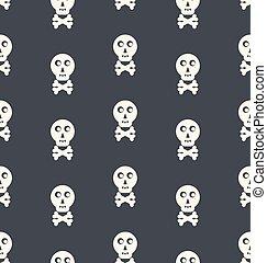Seamless Pattern Skull White