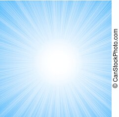 Abstract Blue Sky Background Sun Rays