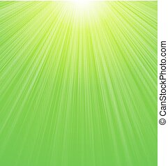 Abstract Green Sunbeam Background - Abstract Green Sunny...
