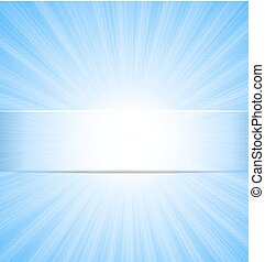Abstract Blue Sky Sunbeam Background with Place for Text -...