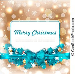 Christmas Postcard with Traditional Decoration