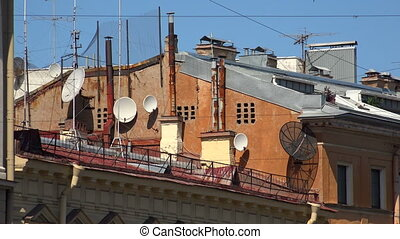 Antennas and transponders on the roof Shot in 4K ultra-high...