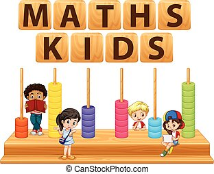 Children and math toy