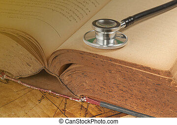 Stethoscope on text book