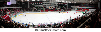 Panorama of hockey stadium