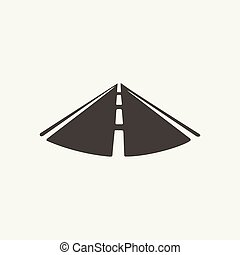 illustration of road. Black and white style