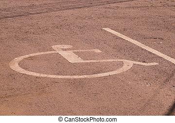 繪, 停車處, 簽署, 無能力, 街道, 許可