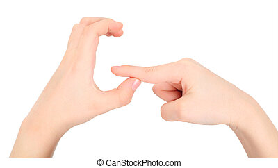 hands represents letter G from alphabet