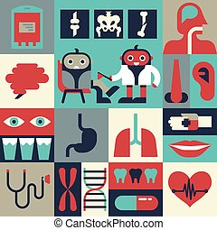 Health Concept - Illustration of health concept with...