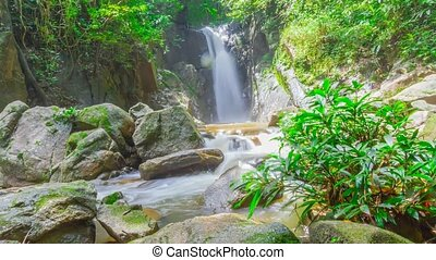 waterfall in Doi Inthanon national park, Chiang Mai,...
