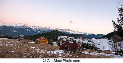 Romantic sunset in mountain - Romania mountain romantic...