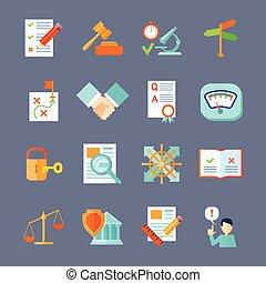 Legal Compliance Icons Set - Legal compliance deal...