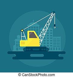 Lifting Crane Flat - Lifting crane construction equipment...