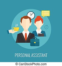 Personal assistant icon - Personal assistant concept with...