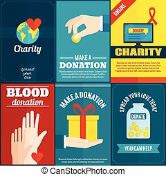Charity posters set