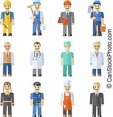 Profession People Set - Profession people set with engineer...