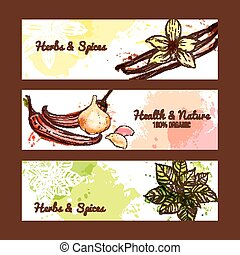 Herbs And Spices Banners