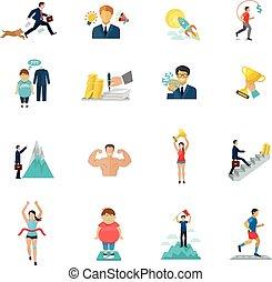 Motivation Icons Flat