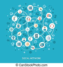 Social networks communication concept