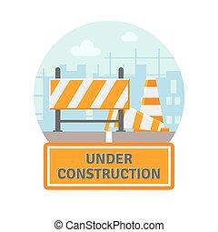 Under Construction Flat Icon - Website improvement under...