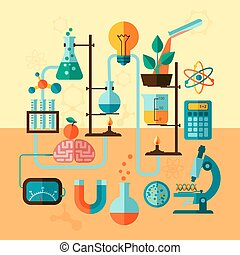 Scientific research laboratory template poster - Scientific...