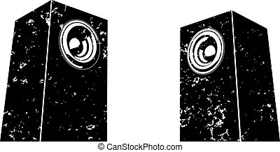 sound system clipart. grunge sound-system speaker sound system clipart