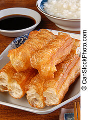Chinese fried bread stick - Chinese tradition food- Fried...