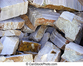 Onyx stone material - The raw pieces of natural stone onyx...