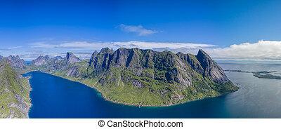 Reinefjorden on Lofoten - Reinefjorden, beautiful fjord on...