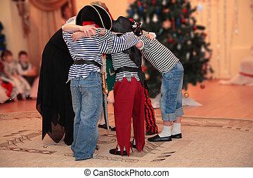 Children, New, Year\'s, masquerade, kindergarten