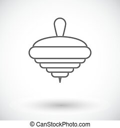 Whirligig icon Thin line flat vector related icon for web...