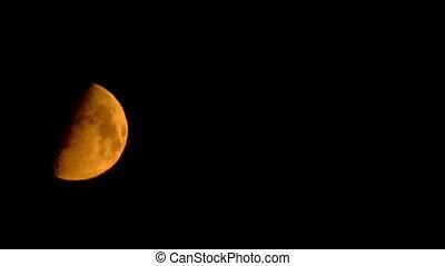 yellow moon timelapse - yellow moon