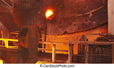Work domennom guild - Hot steel pouring in steel plant